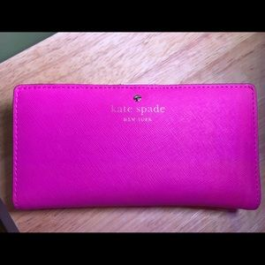 Kate Spade Pink Leather Snap Wallet